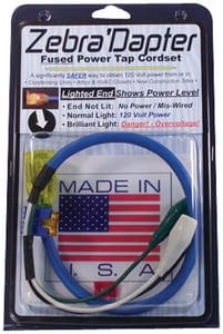 Zebra Instruments 2-Lighted Female Cheater Cord ZZD002