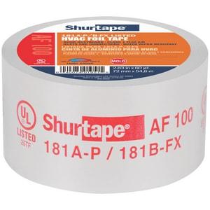 Shurtape AF 100 3 in. x 60 yd. Silver Aluminum Foil Tape SAF100M60