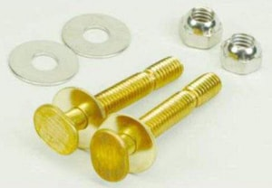 PROFLO 5/16 in. Brass Snap Closet Bolt Stainless Steel Pair PF90124