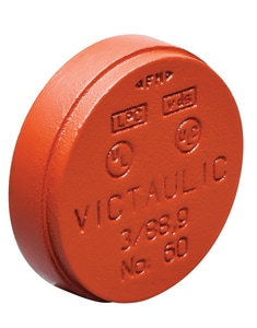 Victaulic 1000# Grooved Painted Cap VF060P00