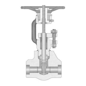 Velan Valve 800# Forged Steel Threaded Outside Stem and Yoke Full Port Gate Valve VS2064B02TY