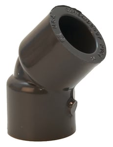 Spears 819 Series 3/8 in. FIPT Threaded Straight Schedule 80 PVC 45 Degree Elbow S819003 at Pollardwater