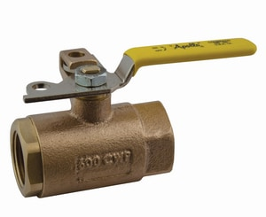 Apollo Conbraco 75 Series 600 psi 2-Piece Threaded Bronze Ball Valve with Lever Handle and Drain A751041