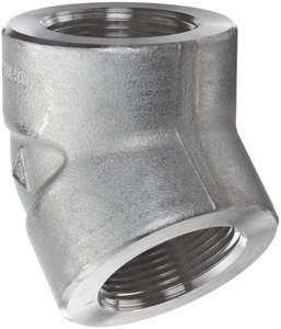 Threaded 3000# 304L Stainless Steel 45 Degree Elbow IS4L3T4