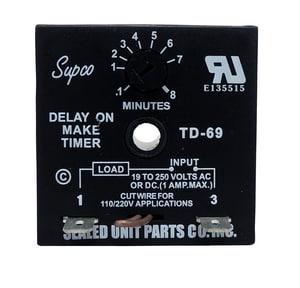 Supco Adjustable Time Delay On Make 6 - 480 Sec STD69