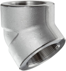 3000# 304L Stainless Steel Threaded 45 Degree Elbow IS4L3T4