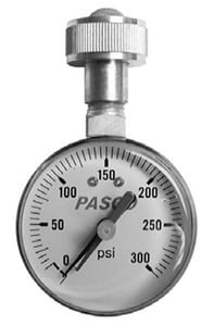 Pasco 300 psi Lazy Hand Test Gauge P1428