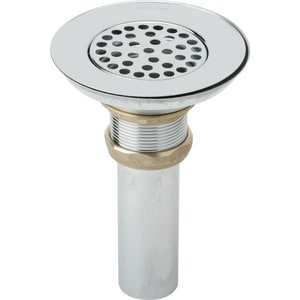 Elkay 3-1/2 in. 316L Stainless Steel Grid Drain with Brass Nut ELK372