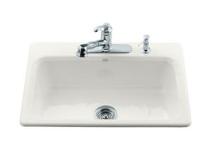 Kohler Bakersfield™ 3-Hole 1-Bowl Topmount Kitchen Sink K5832-3