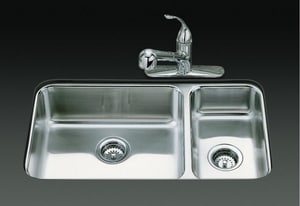 Kohler Undertone® 29 x 16 in. 2-Bowl Undercounter Kitchen Sink K3352-NA