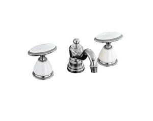 Kohler Antique™ 3-Hole Deckmount Widespread Lavatory Faucet with Double Knob Handle K280-9B