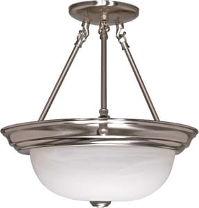 Nuvo Lighting 3 Light 60W Semi-Flush Mount Ceiling Fixture N602