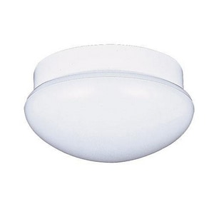 Seagull Lighting 6-1/4 x 12 in. 60 W 3-Light Medium Flush Mount Ceiling Fixture in White S764015