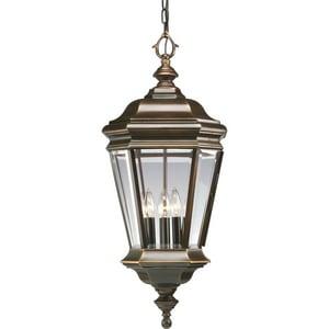 Progress Lighting Crawford 4-Light Outdoor Hanging Lantern in Oil Rubbed Bronze PP5574108
