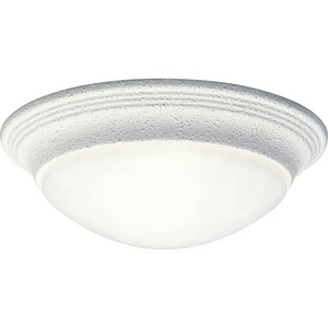 Progress Lighting 11-1/2 in. 1-Light LED Flushmount with Alabaster Glass Shade PP3688