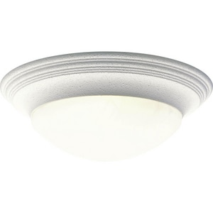 Progress Lighting Alabaster 60W 3-Light Medium Base Flush Mount Ceiling Light PP3697