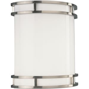 Progress Lighting Sconce 1 Light 26W Fluorescent Wall Sconce Brushed Nickel PP708509EBWB