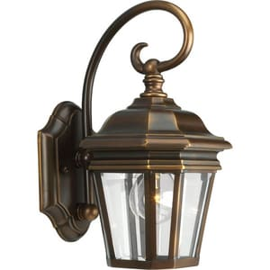 Progress Lighting Crawford 6-1/2 in. 100 W 1-Light Medium Wall Lantern in Oil Rubbed Bronze PP5670108