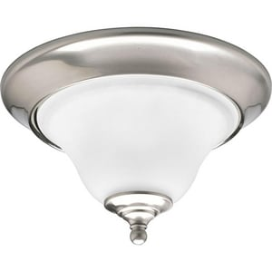 Progress Lighting Trinity 100 W 1-Light Medium Flush Mount Close-to-Ceiling Fixture Light PP3475