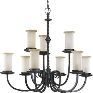 Progress Lighting 60W 9-Light Candelabra Incandescent Chandelier PP4179