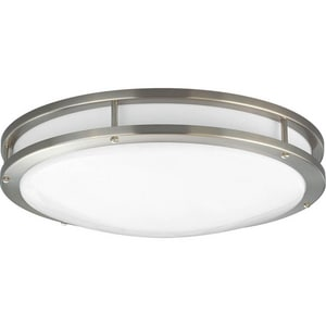 Progress Lighting Modular Fluorescent 32W 1-Light 120V Flushmount Round Fluorescent Ceiling Fixture PP7250EBWB