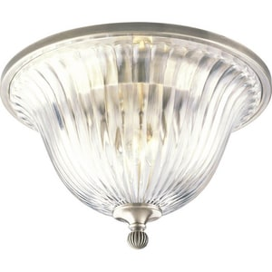 Progress Lighting Roxbury 60W 2-Light Medium Flush Mount Close-to-Ceiling Fixture PP2819101
