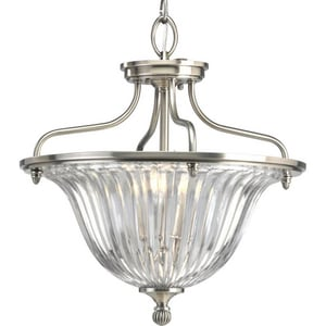 Progress Lighting Roxbury 60W 3-Light Candelabra E-12 Incandescent Semi-Flush Ceiling Light PP2817