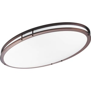 Progress Lighting 32W 2-Light 120V Flushmount Oval Fluorescent Ceiling Fixture in Urban Bronze PP7251174EBWB