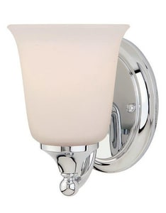 Murray Feiss Industries Claridge 7 in. 100W 1-Light Wall Mount Medium E-26 Bath Light MVS10501