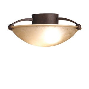 Kichler Lighting Senna 75W 2-Light Medium E-26 Incandescent Semi-Flush Ceiling Light KK8405