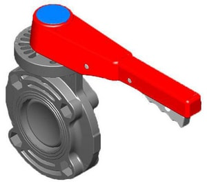 Spears CPVC EPDM Butterfly Valve with Handle S72231100C