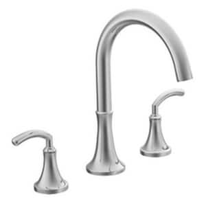 Moen Icon™ 3-Hole High Arc Roman Tub Faucet with Two Lever Handles MTS963