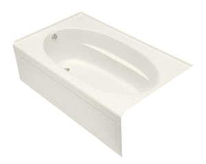 Kohler Windward® 72 x 42 in. Acrylic 3-Wall Alcove Rectangular Apron Bathtub with Left Drain K1115-LA