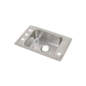 Elkay Lustertone® 1-Bowl Topmount Classroom Sink with Center Drain EDRKR2517