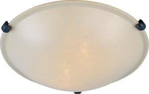 Maxim Lighting International Malaga 4 x 12-1/2 in. 60 W 2-Light Flush Mount Ceiling Fixture M2680WSOI