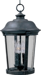 Maxim Lighting International Dover DC 40W 3-Light Outdoor Hanging Lantern in Bronze M3028CDBZ