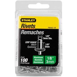 Stanley Aluminum Rivet 100 Pack SPAA41B