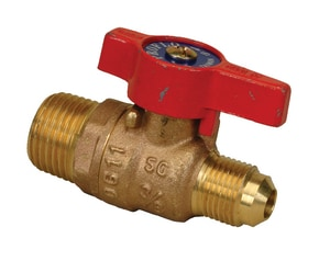 PROFLO® MIP x OD Flared Gas Ball Valve with Lever Handle PFR602MDC