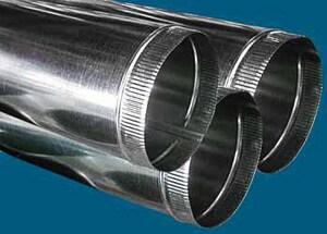 M & M Manufacturing 30 ga Galvanized Snap-Lock Pipe M100