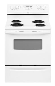 Whirlpool EZ-Touch™ 29-7/8 in. 4.8 cf 4-Burner Self-Cleaning Freestanding Electric Range WRF114PXS