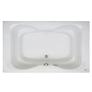 Mito™ 60 x 42 in. Acrylic Rectangle Drop-In Air Bathtub with Center Drain and J2 Basic Control JMIT6042ACR2XX