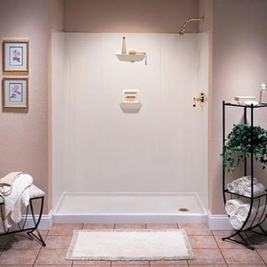 Swan Corporation 70x 60 in. 6-Piece Shower Wall Kit SSW07060BRWH