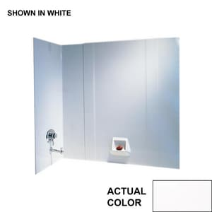 Swan Corporation High Gloss 3-Piece Bath Wall Kit in White SRM58000BRWH