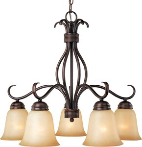 Maxim Lighting International Basix 100 W 5-Light Medium Chandelier in Oil Rubbed Bronze M10124WSOI