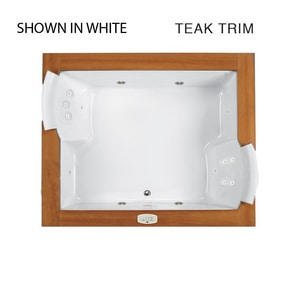 Jacuzzi Fuzion® 71-3/4 x 59-3/4 in. 15-Jet Acrylic Rectangle Drop-In or Undermount Whirlpool Bathtub with Center Drain and J4 Luxury Control JFUZ7260WCR4IH
