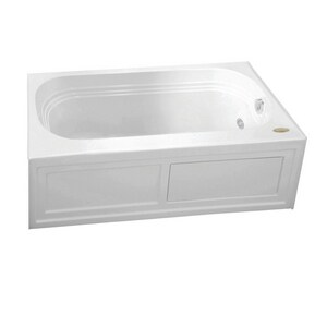 Jacuzzi Luxura® 60 x 32 in. Acrylic Rectangle Drop-In or Skirted Air Bathtub with Right Drain and J2 Basic Control JLXS6032ARL2XX