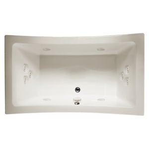 Jacuzzi Allusion® 72 x 36 in. 10-Jet Acrylic Rectangle Drop-In Whirlpool Bathtub with Center Drain and J4 Luxury Control JALL7236WCR4CH
