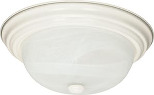 Nuvo Lighting 60W 2-Light Medium Flush Mount Ceiling Light in White N60222
