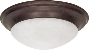 Nuvo Lighting 3 Light 60W 17 in. Flush Mount Light Old Bronze N60282