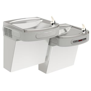 Elkay Versatile Wall Mount Bi-Level ADA Sensor-Activated Cooler in Stainless Steel EEZOSTL8SC